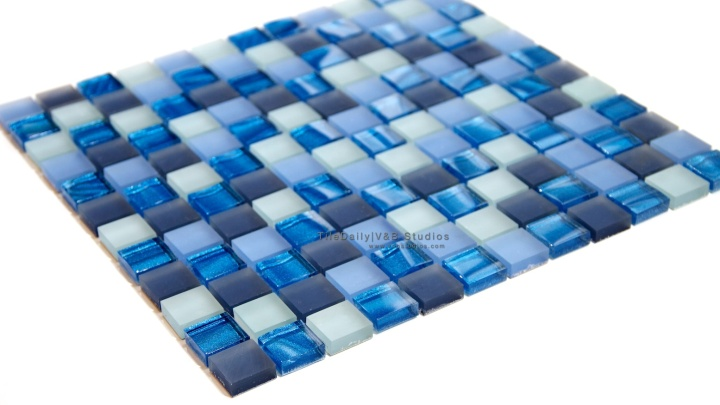 Mixed Frosted Metallic Glass Mosaic, 3colors