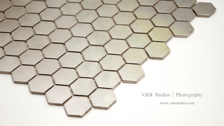Stainless Steel Hexagonal Mosaic Tile