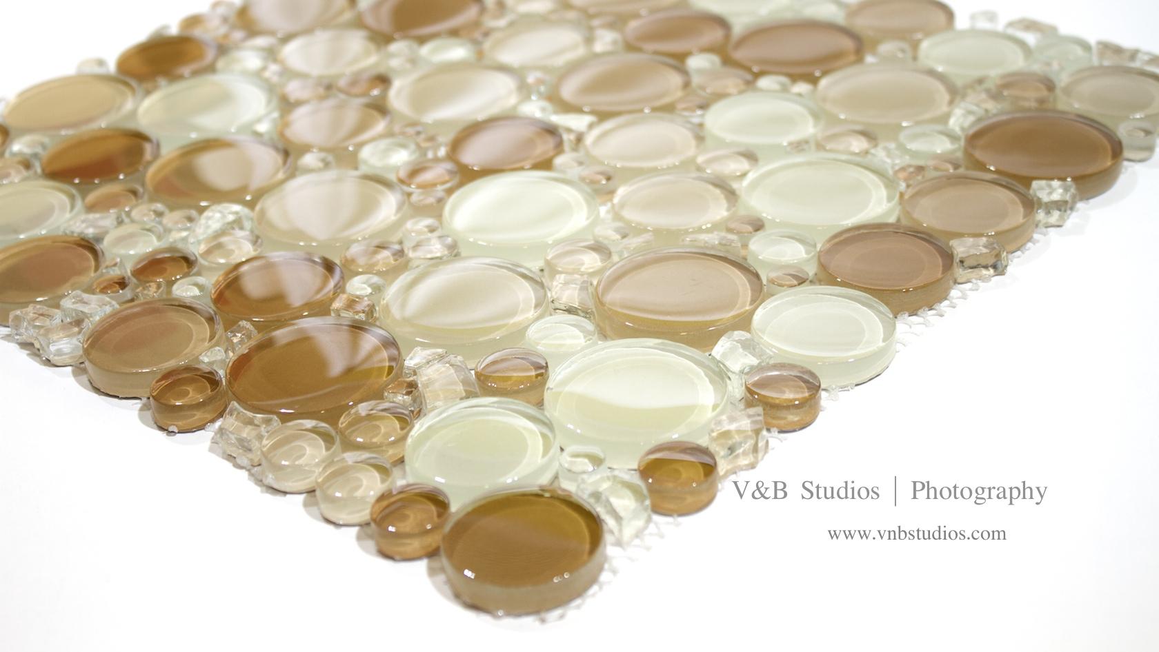 Bubble Glass Mosaic 3 Colors Tiledaily