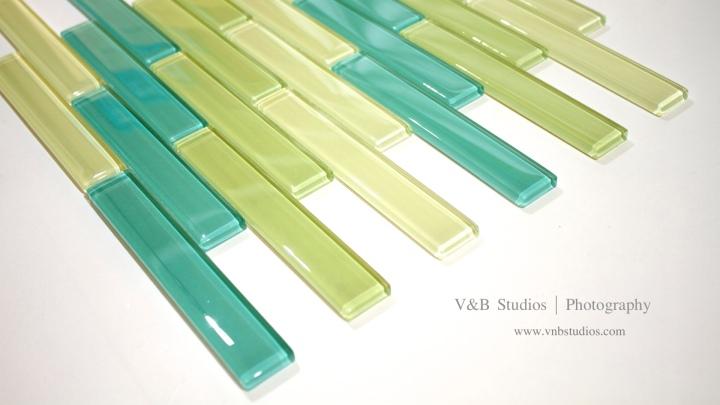 Linear Brick Glass MosaicTile