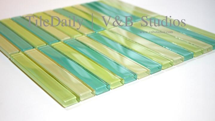Linear Bars GlassMosaic