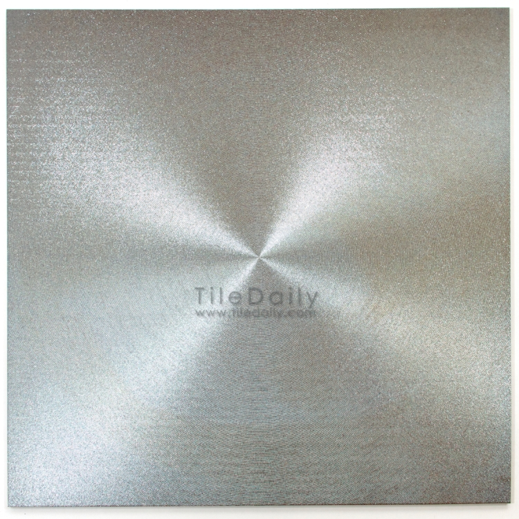 MP0017SR  Metallic Porcelain Tile, Silver