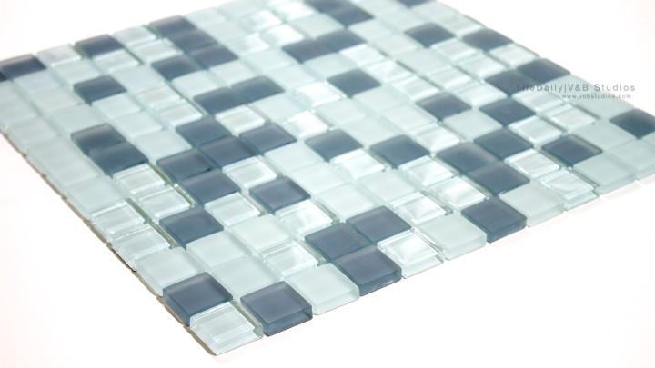 Square Mixed Glass Mosaic,Grey