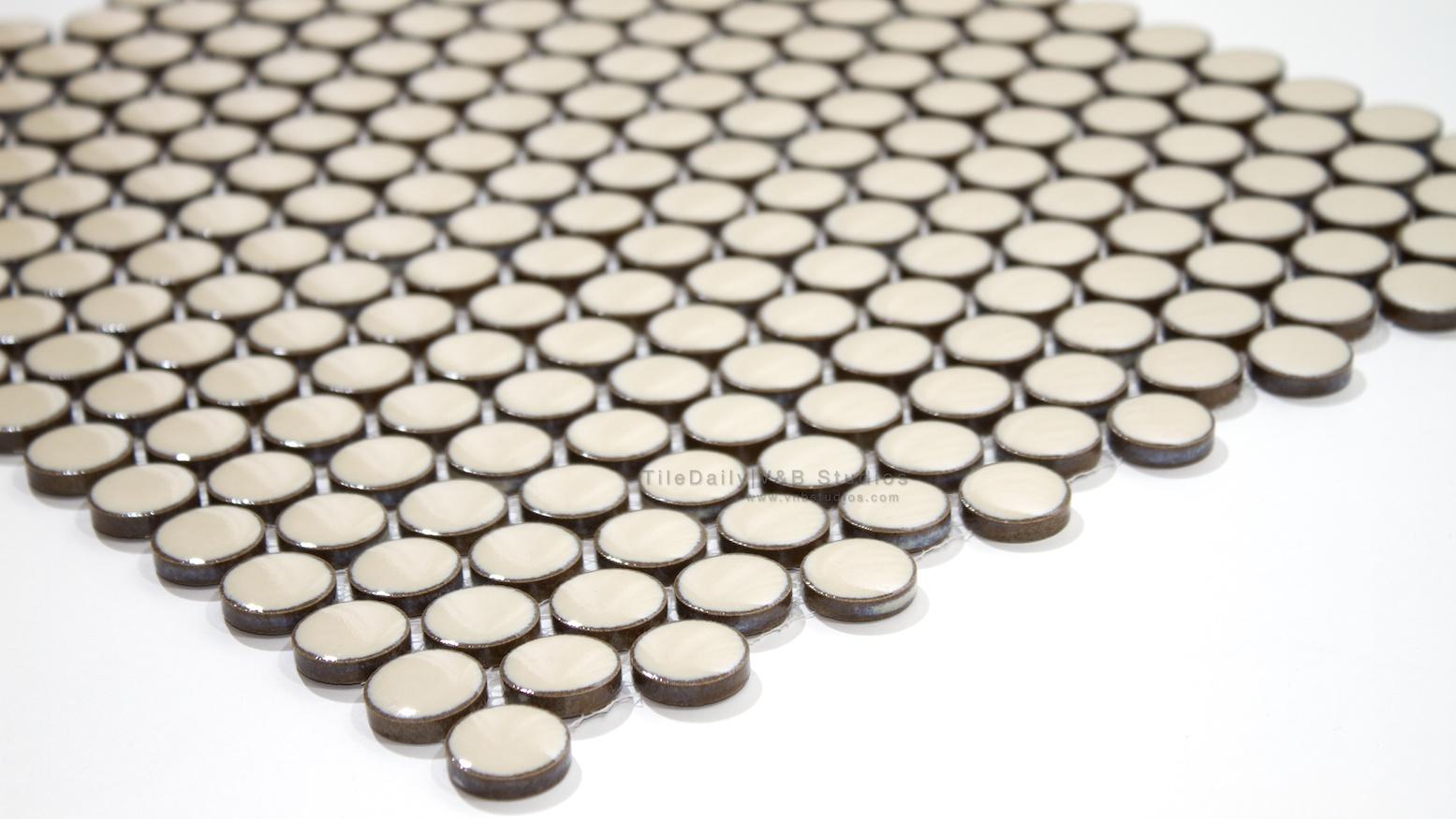Rustic Penny Round Porcelain Mosaics Tiledaily