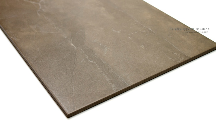 Quartz Vein Porcelain Tile, Taupe / Brown, Matte Finish