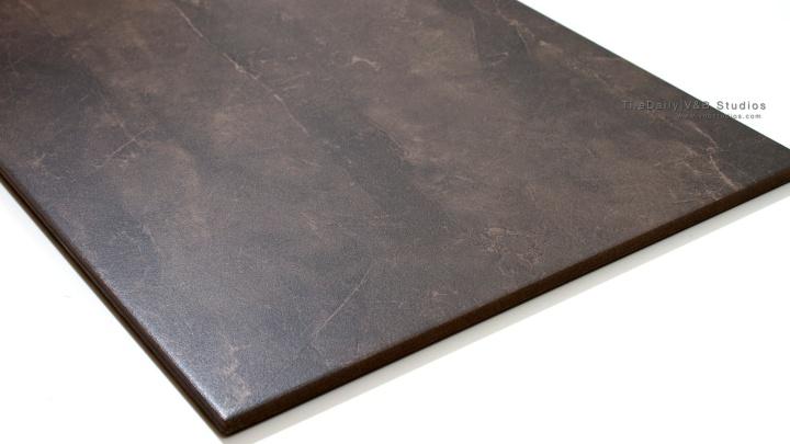 Quartz Vein Porcelain Tile from TileDaily, Dark Brown, Throughbody, Matte Surface