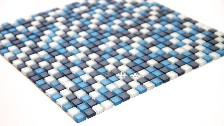 Small Squares Frosted GlassMosaic