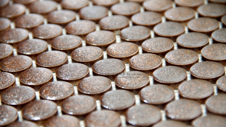 Rustic Bronze Penny RoundMosaic