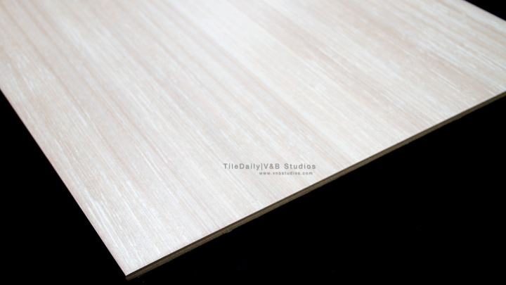 White Faux Wood Porcelain Tile