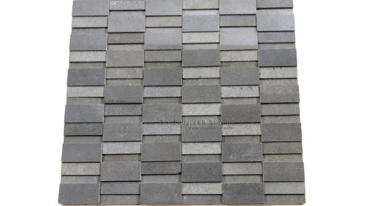 Splitface Basalt Stone Mosaic at TileDaily