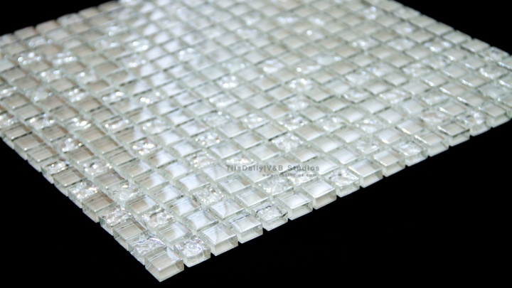 Small Square Iridescent Glass Mosaic