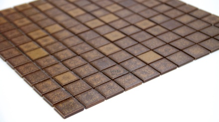 Brown Rust Textured Porcelain Mosaic