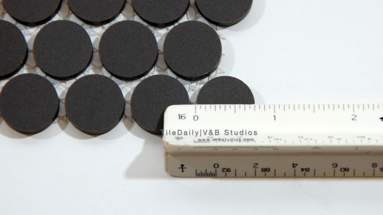 "3/4"" Matte Penny Round Mosaic Tile at TileDaily"