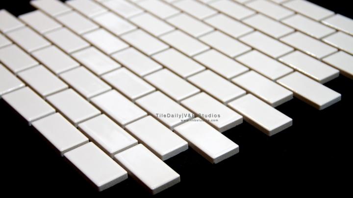 White Small Brick PorcelainMosaic