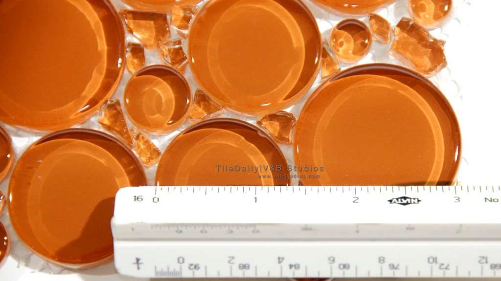 Burnt Orange Glass Bubble Mosaic Tile on Sale at Tiledaily