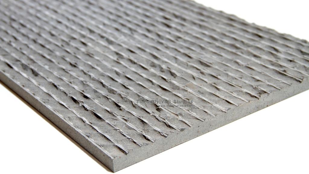 12x24 Chiseled Ripple Basalt Stone Tile at TileDaily