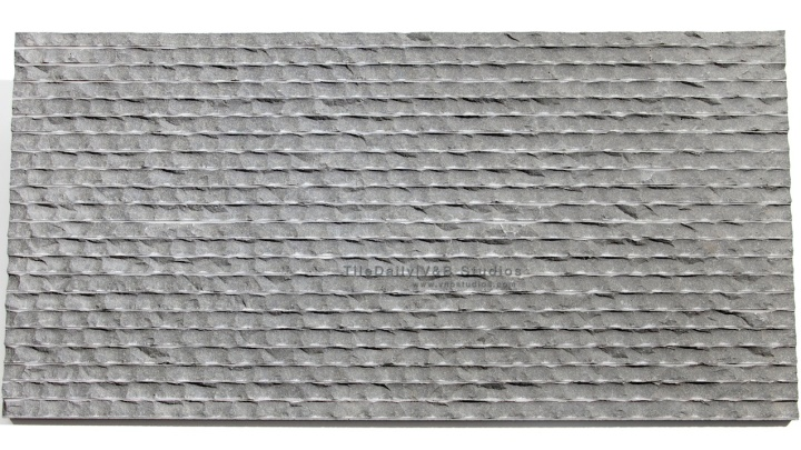 12x24 Chiseled Ripple Basalt Stone Tile at TileDaily