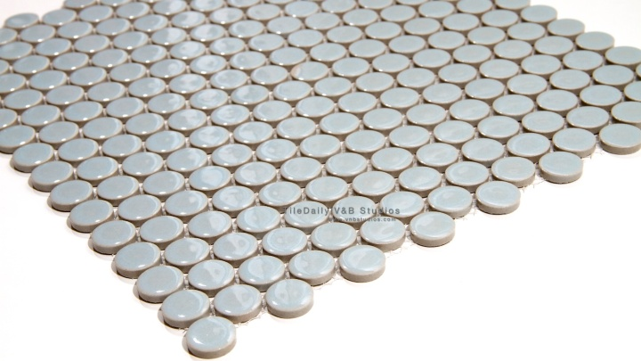 Country Blue Penny Round Mosaic