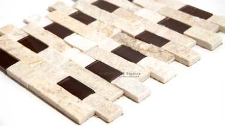Quartz And Glass Brick Mosaic
