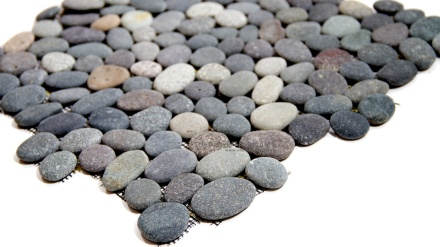 River Rock Grey Pebble Mosaic