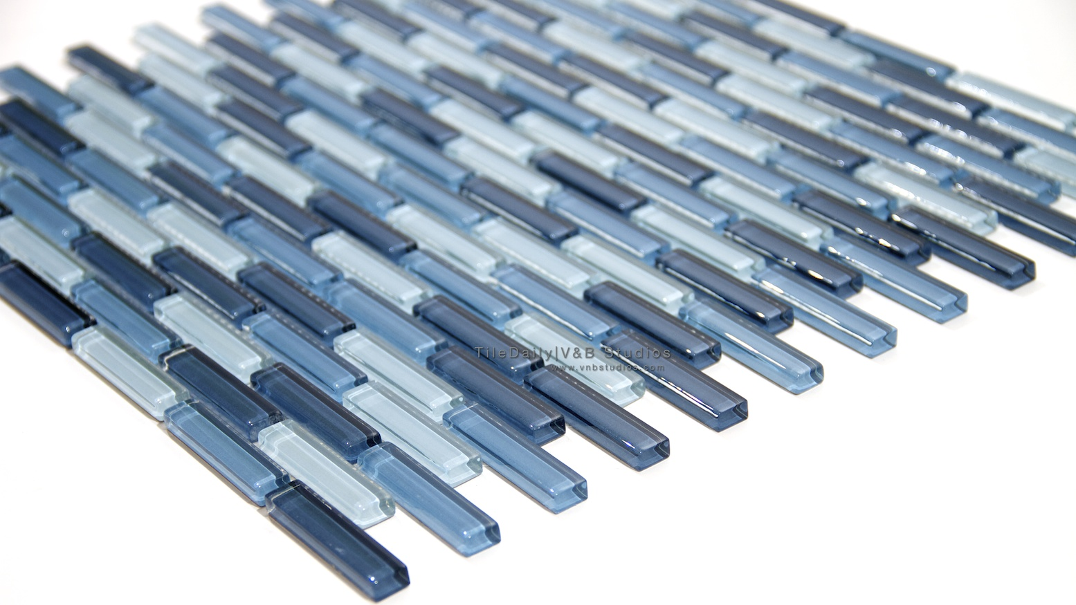 Small Brick Glass Mosaic, Blue – tiledaily