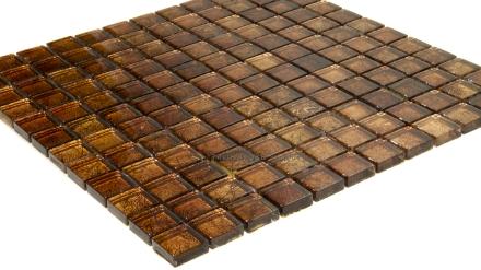 Gold Foil Square Glass Mosaic