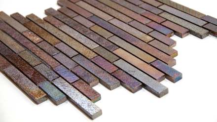 Iridescent Rain Random Brick Mosaic