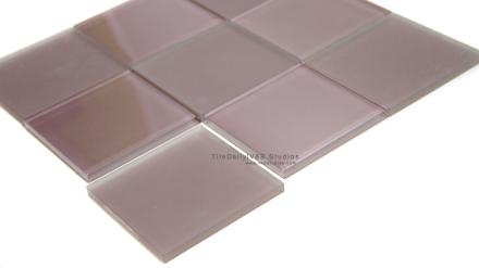 Lilac Glass Square Mosaics