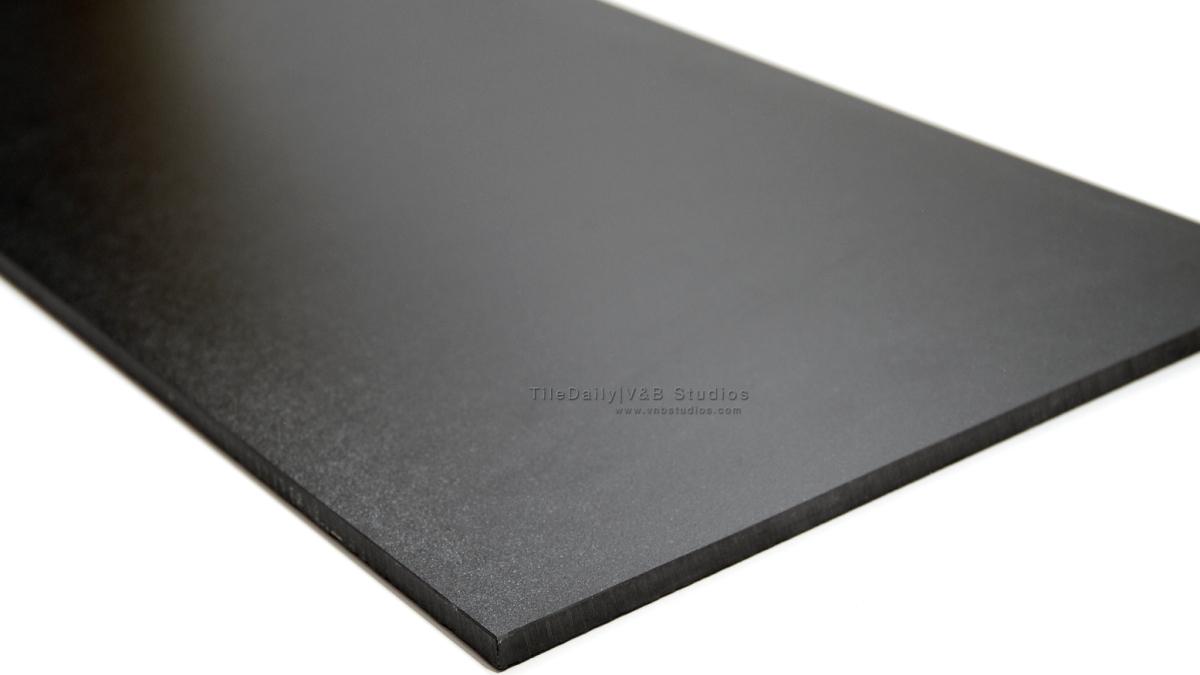 Matte black porcelain tile tiledaily for Matte bathroom tiles