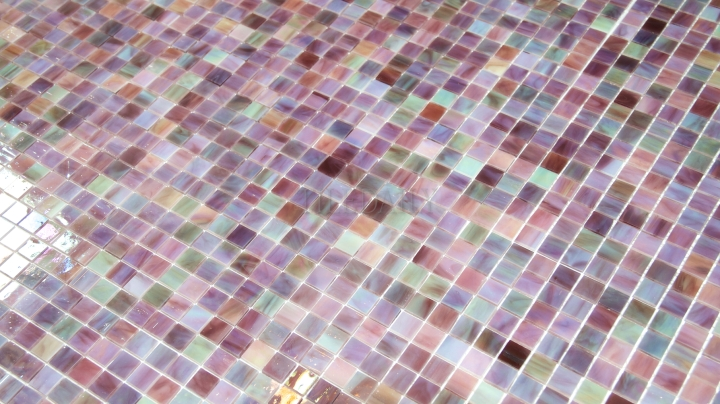 Purple Iridescent Opaque Glass Mosaic, TileDaily 02
