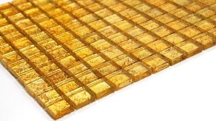 Gold Foil Glass Mosaic