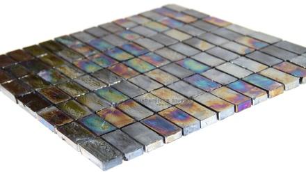 Iridescent Rectilinear Glass Mosaic