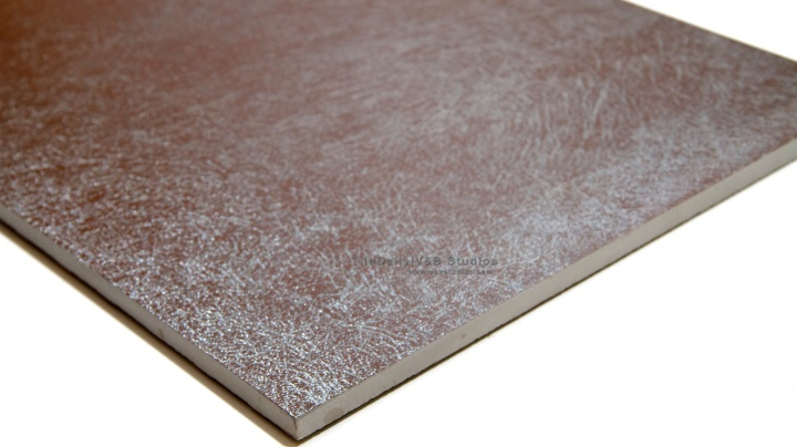 Silver Bronze Metallic Leather Tile