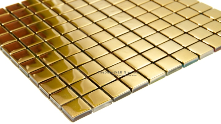 Gold Square Glass Mosaic