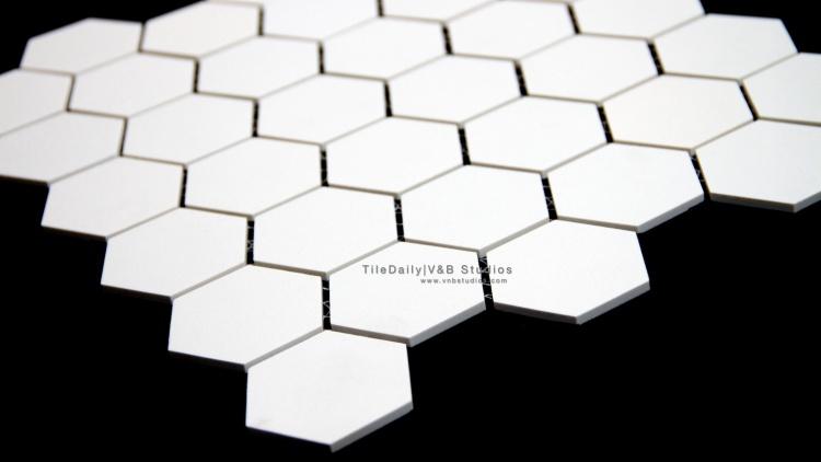White Unglazed Porcelain Mosaic Tile. Wall & Floor Tile