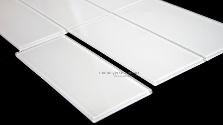 White Bar GlassTile