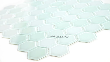 Hexagon Glass Mosaic, Light Green