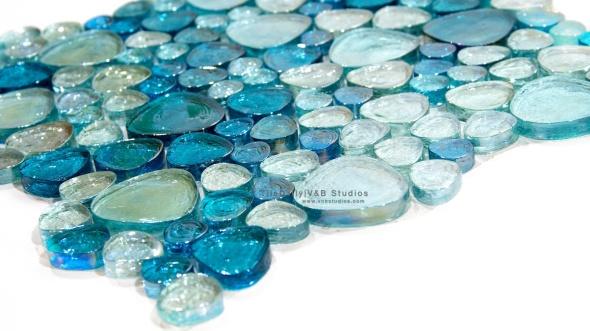 Iridescent Pebble Glass Mosaic