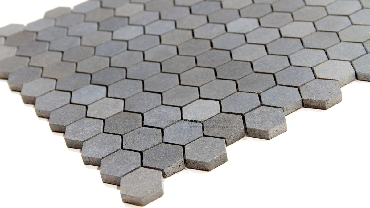 Basalt Hexagon Mosaic Tiledaily