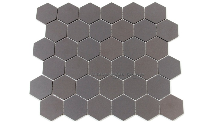 "2"" Unglazed Hexagon Porcelain Mosaic Tile. Wall & Floor Tile"