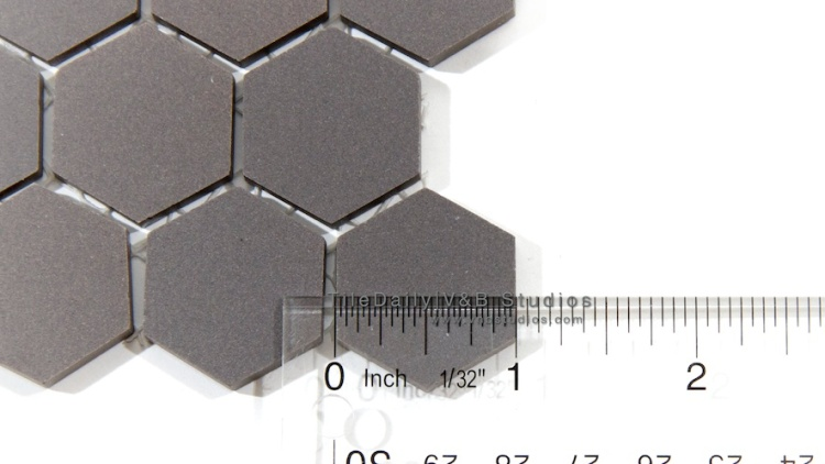 "1"" Unglazed Hexagon Porcelain Mosaic Tile. Wall & Floor Tile"
