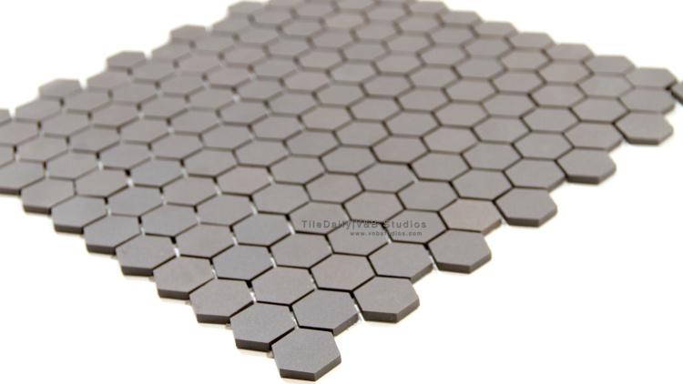 "1"" Unglazed Hexagon Porcelain Mosaic Tile. Wall & Floor Tile"