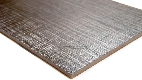 MP0035SR  Metallic Linen Porcelain Tile, Silver