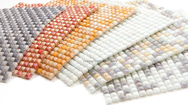 Iridescent Pearl Glass Mosaic Series, 6 Colors