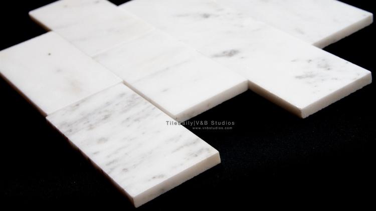 Statuario Marble Subway Tile Tiledaily