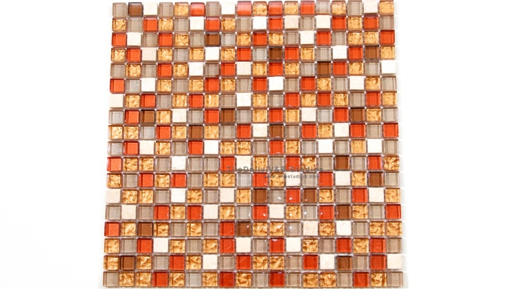 GM0091GD Fashion Glass Mosaic, Shimmering Gold Mix