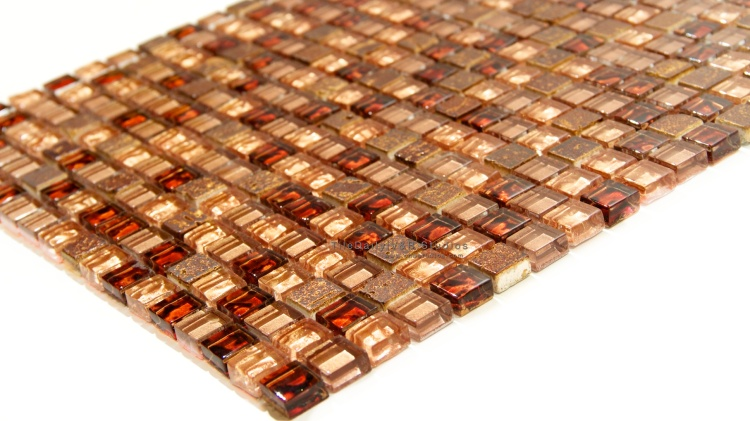 Fashion Glass Mosaic, Shimmer Copper Mix