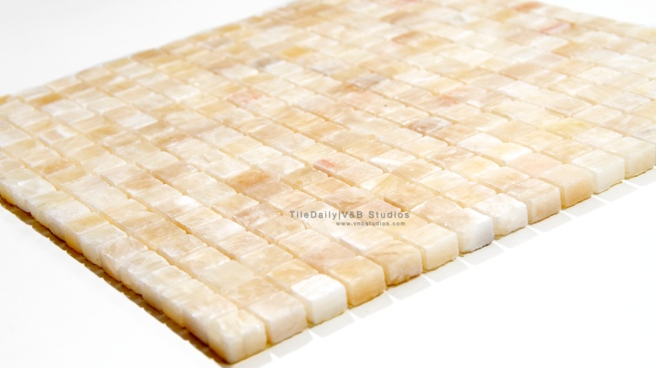 Honey Onyx Small Square Mosaic