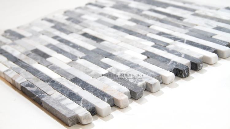 Marble Bullet Mosaic Tile