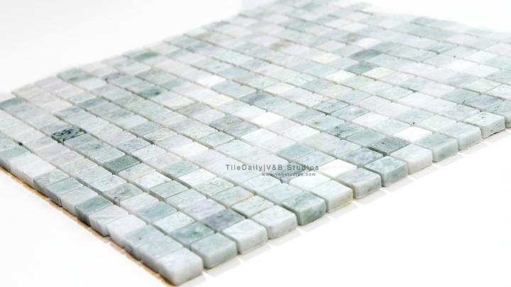 Ming Green Small Square MarbleMosaic